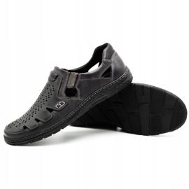 Joker Men's summer leather shoes, slip-on 500J gray grey 4