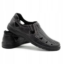 Joker Men's summer leather shoes, slip-on 500J gray grey 5
