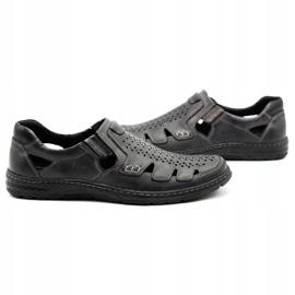 Joker Men's summer leather shoes, slip-on 500J gray grey 6