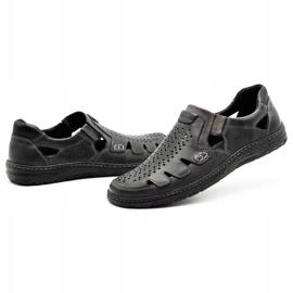 Joker Men's summer leather shoes, slip-on 500J gray grey 7