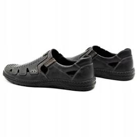 Joker Men's summer leather shoes, slip-on 500J gray grey 8