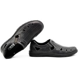 Joker Men's summer leather shoes, slip-on 500J gray grey 1