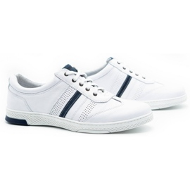 Joker Men's leather casual shoes 521/2 white 3