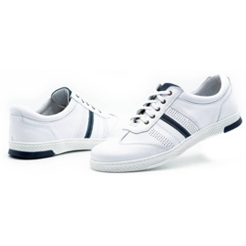 Joker Men's leather casual shoes 521/2 white 7
