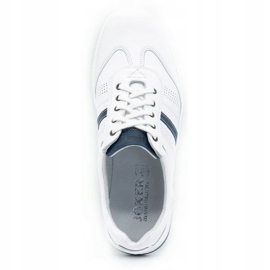 Joker Men's leather casual shoes 521/2 white 9