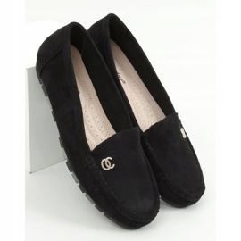 Black Women's black loafers GS14P Black 1