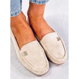 Women's loafers light beige GS14P Beige 2