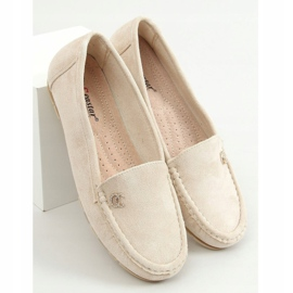 Women's loafers light beige GS14P Beige 1