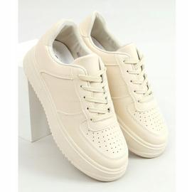 Women's beige sports shoes G191 Beige 1