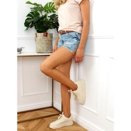 Women's beige sports shoes G191 Beige 3