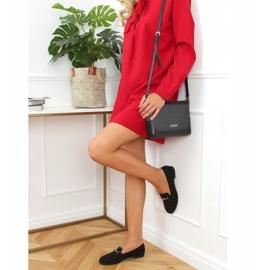 Black women's loafers GQ01 Black 2
