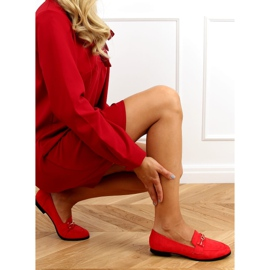 Red women's loafers GQ01 Red 3