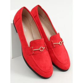 Red women's loafers GQ01 Red 1