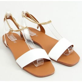 Sandals with a chain white HY23-11 White 1