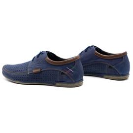 Mario Pala Men's openwork shoes 563 navy blue 7