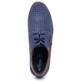 Mario Pala Men's openwork shoes 563 navy blue 8