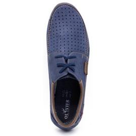Mario Pala Men's openwork shoes 563 navy blue 2