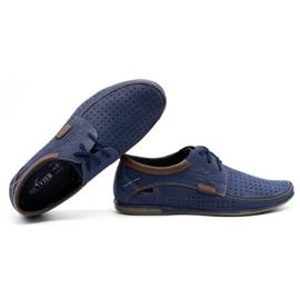 Mario Pala Men's openwork shoes 563 navy blue 3