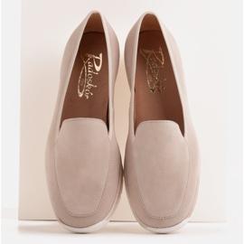 Radoskór Comfortable low wedge shoes for a wider foot beige 2