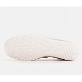 Radoskór Comfortable low wedge shoes for a wider foot beige 5