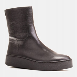Marco Shoes Comfortable Marco boots with a flat bottom black 1