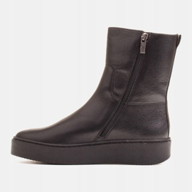 Marco Shoes Comfortable Marco boots with a flat bottom black 2