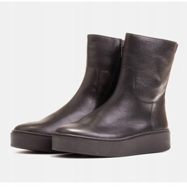Marco Shoes Comfortable Marco boots with a flat bottom black 3