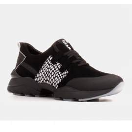 Marco Shoes Sports sneakers made of high-quality natural suede black 1