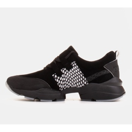Marco Shoes Sports sneakers made of high-quality natural suede black 4