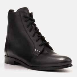 Marco Shoes Leather boots with a flat sole black 2