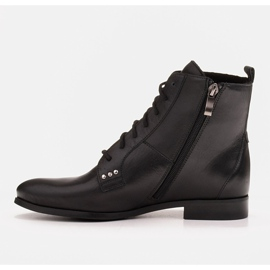 Marco Shoes Leather boots with a flat sole black 4