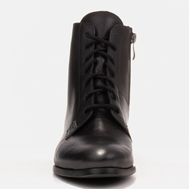 Marco Shoes Leather boots with a flat sole black 1