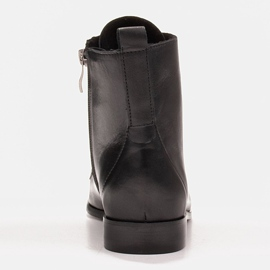 Marco Shoes Leather boots with a flat sole black 3