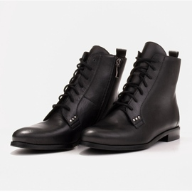 Marco Shoes Leather boots with a flat sole black 7