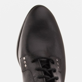 Marco Shoes Leather boots with a flat sole black 6