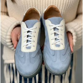 Marco Shoes Sports sneakers made of high-quality natural suede grey 8