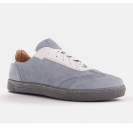 Marco Shoes Sports sneakers made of high-quality natural suede grey 1