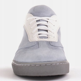 Marco Shoes Sports sneakers made of high-quality natural suede grey 3