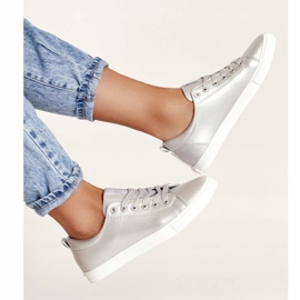 Women's Leather Sneakers Big Star HH274143 Silver 5