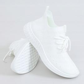 White PC01 White socks sports shoes 1