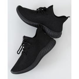 Black PC01 All Black socks sports shoes 1