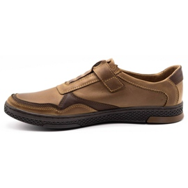 Polbut Men's casual leather shoes 2102 brown 1