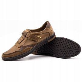 Polbut Men's casual leather shoes 2102 brown 3