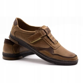 Polbut Men's casual leather shoes 2102 brown 4