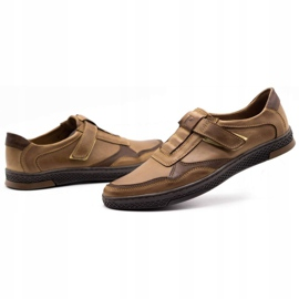 Polbut Men's casual leather shoes 2102 brown 6