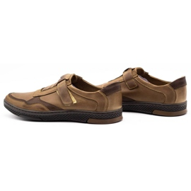 Polbut Men's casual leather shoes 2102 brown 7