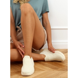 Beige socks LA172P Beige sports shoes 3