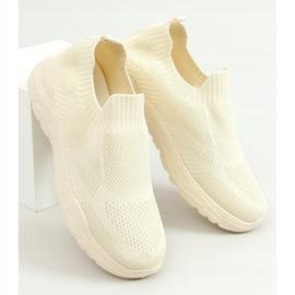 Beige socks LA172P Beige sports shoes 1