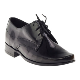 Black lacquered children's shoes Gregors 429 4