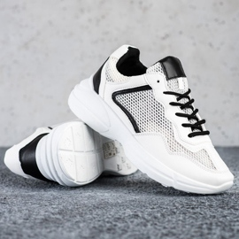 SHELOVET Sneakers With Mesh white 1